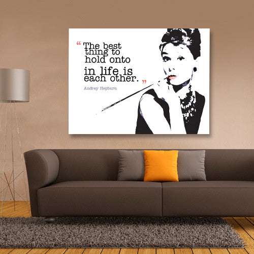 Audrey Hepburn classic iconic image and quote