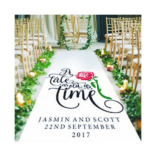 A Tale As Old As Time Personalised Wedding Aisle Runner