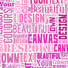 Text Montage Canvas Aline Mother's Day Text Montage gift personalised unique mother grandma nan granny