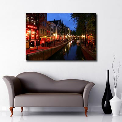 Amsterdam Red Light Canvas