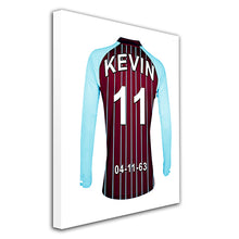 Aston Villa Personalised Football Shirt Canvas