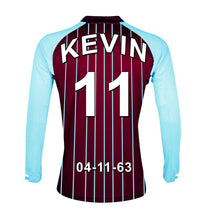 Aston Villa claret and blue  personalised football shirt canvas