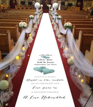 Load image into Gallery viewer, aisle runner personalised as last we do