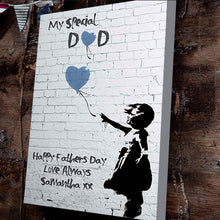 Banksy Father's Day Heart Balloon Canvas