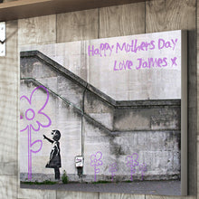 Load image into Gallery viewer, Banksy Hope Personalised Mother's Day Flower Canvas