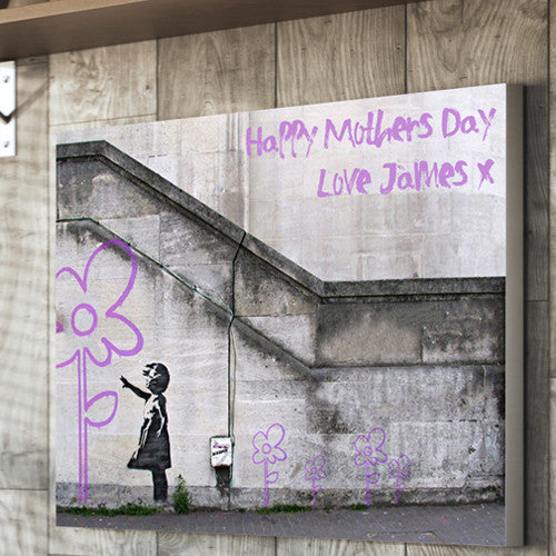 Banksy Hope Personalised Mother's Day Flower Canvas