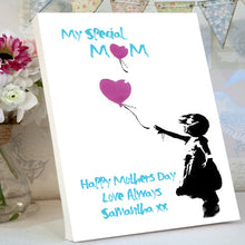 Mother's Day Desktop Canvas Banksy Little Girl Love Balloon personalised gift