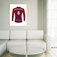 Barcelona Scarlet and Blue personalised football shirt canvas
