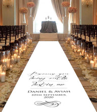 Load image into Gallery viewer, Personalised wedding aisle runner best in me