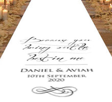 Load image into Gallery viewer, Best In Me - Personalised Wedding Aisle Runner