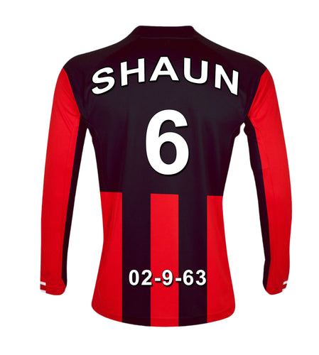 Bournemouth red and black personalised football shirt canvas