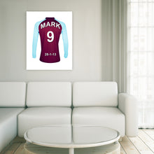 Burnley claret and blue  personalised football shirt canvas