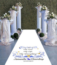 Load image into Gallery viewer, personalised wedding aisle my love my life my everything theme