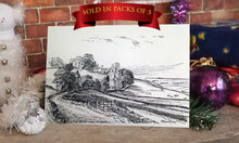 Load image into Gallery viewer, Christmas Card, Wilsden, Landscape Card, Sketch, R Fawcett