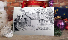 Christmas Card, Wilsden, Landscape Card, Sketch, R Fawcett