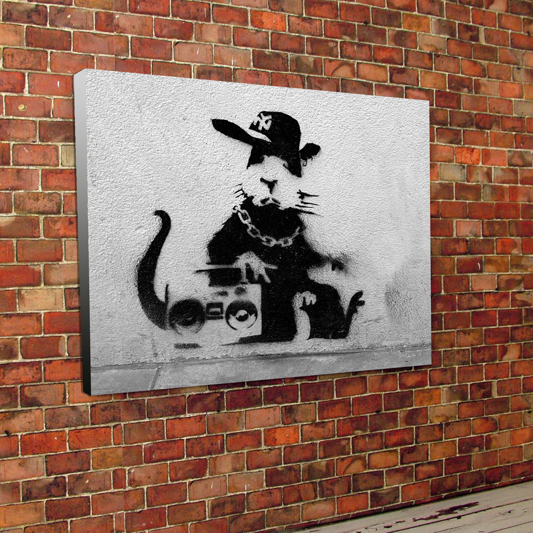 Banksy Rap Rat Canvas