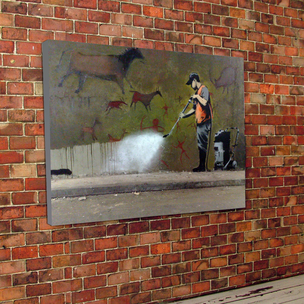 Banksy Street Cleaner Canvas