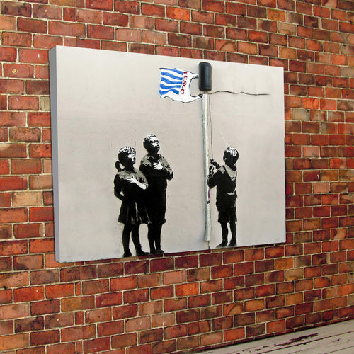 Banksy Shopping Bag Canvas