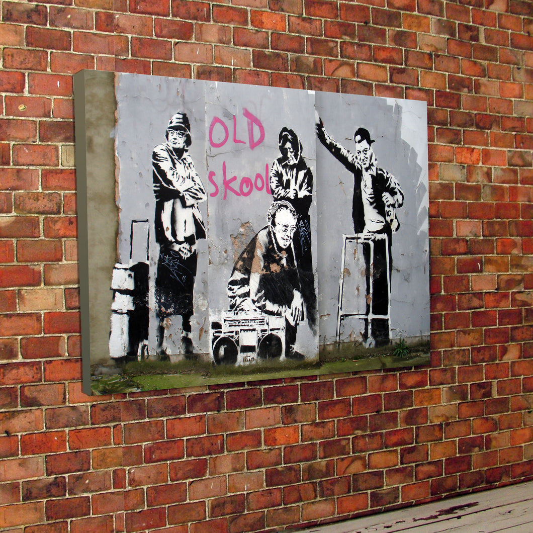 Banksy Old Skool Canvas