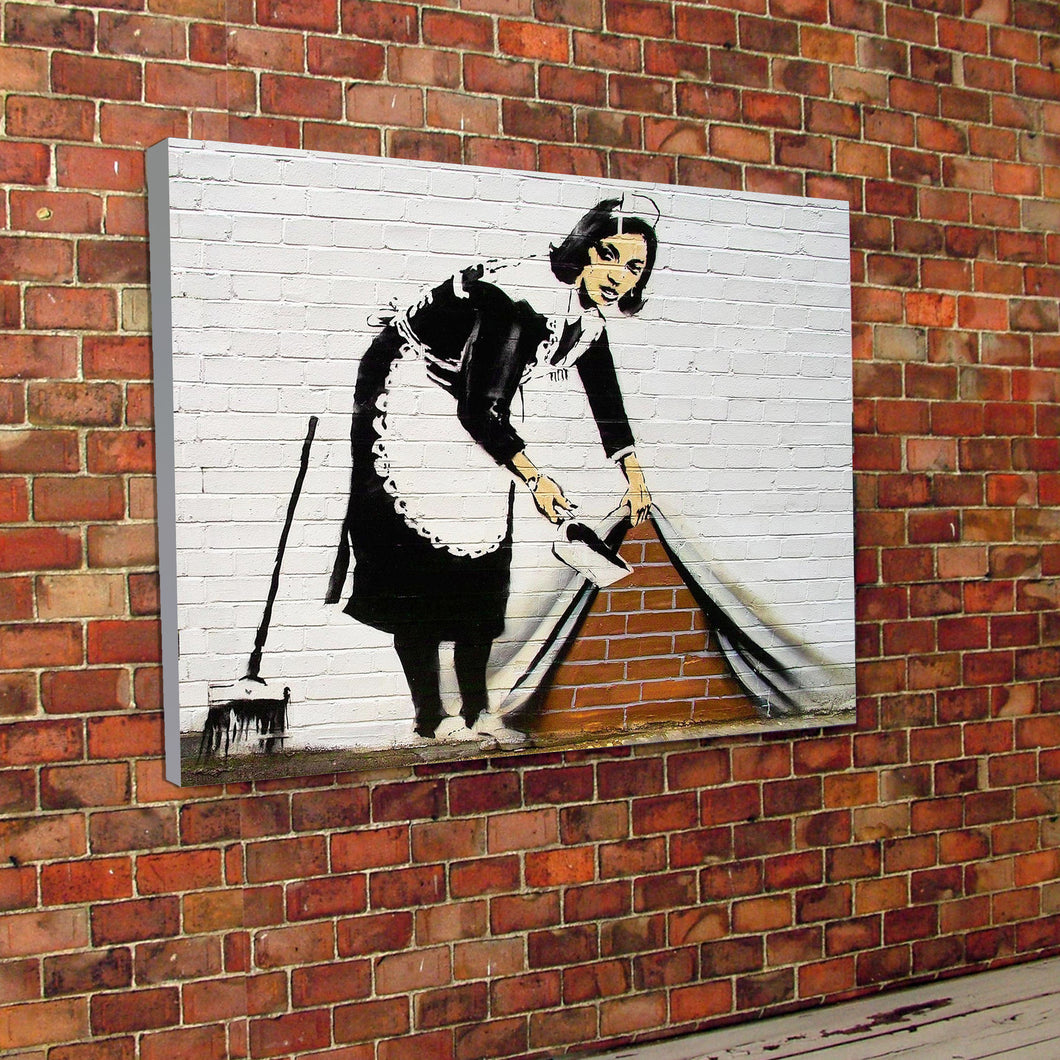 Banksy Maid Canvas