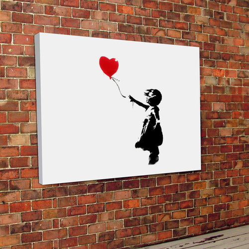 Banksy print Love Ballon Canvas