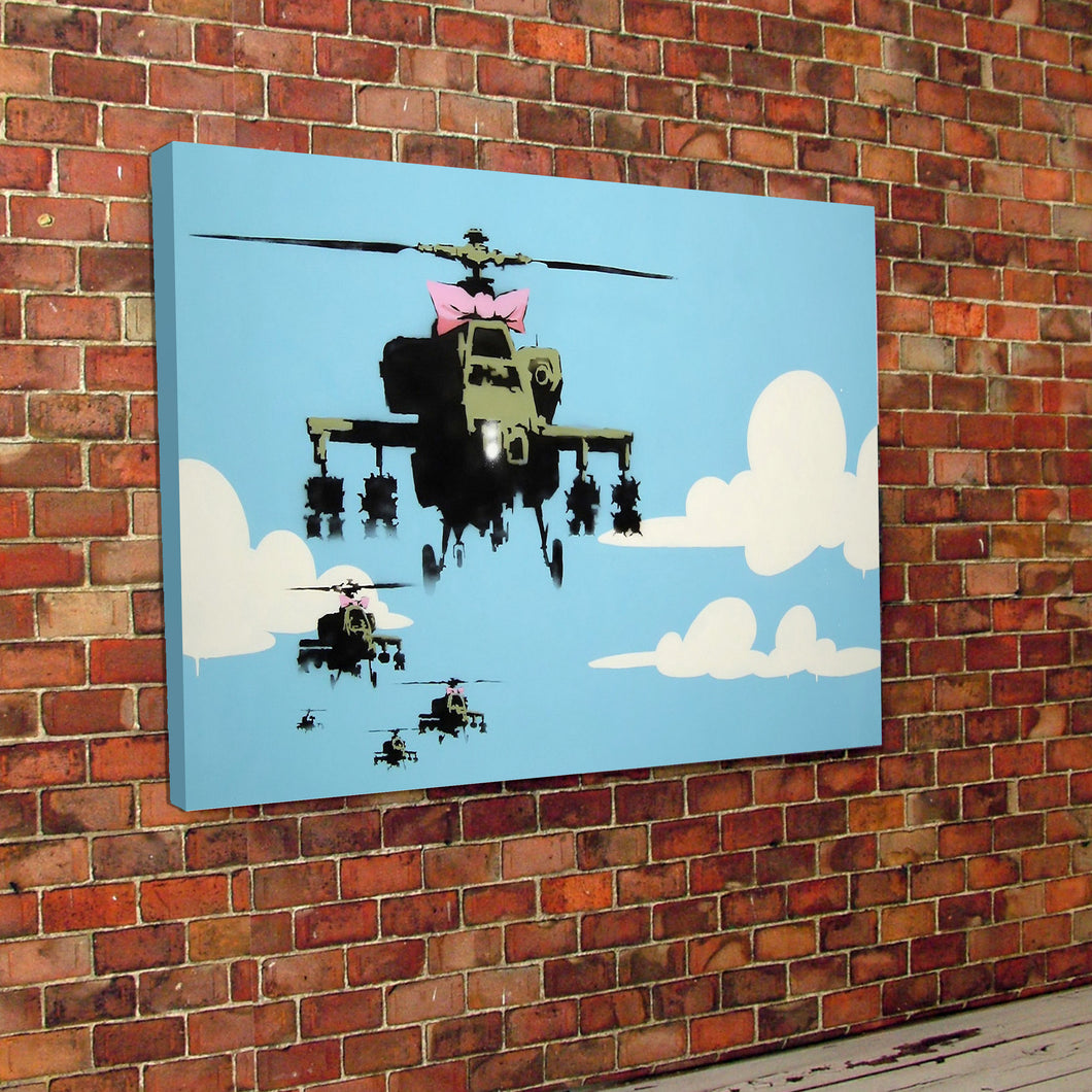 Banksy Helicopter Canvas