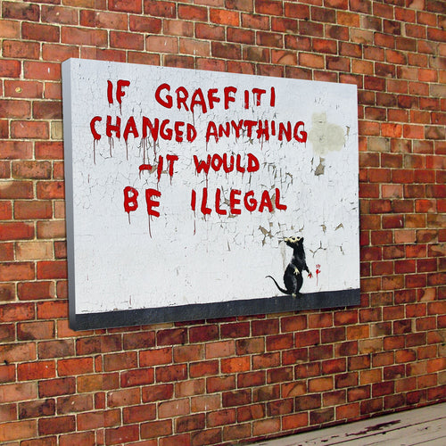 Banksy Graffiti Canvas