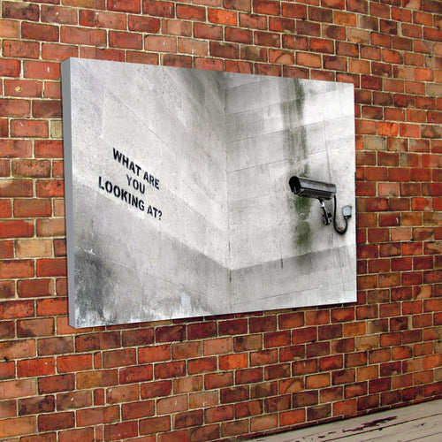Banksy CCTV canvas and frame