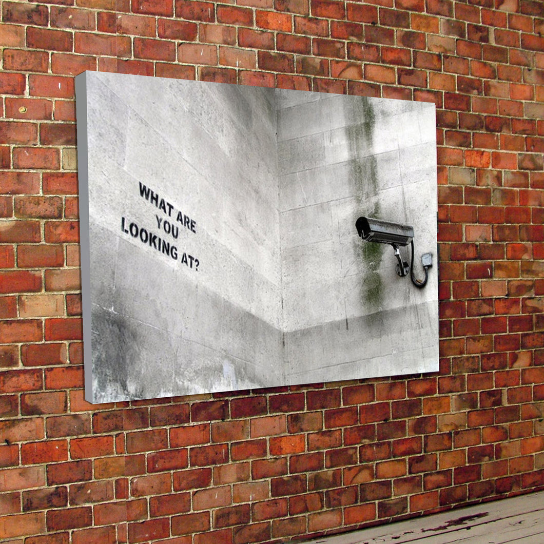 Banksy Print CCTV canvas graffiti art street art