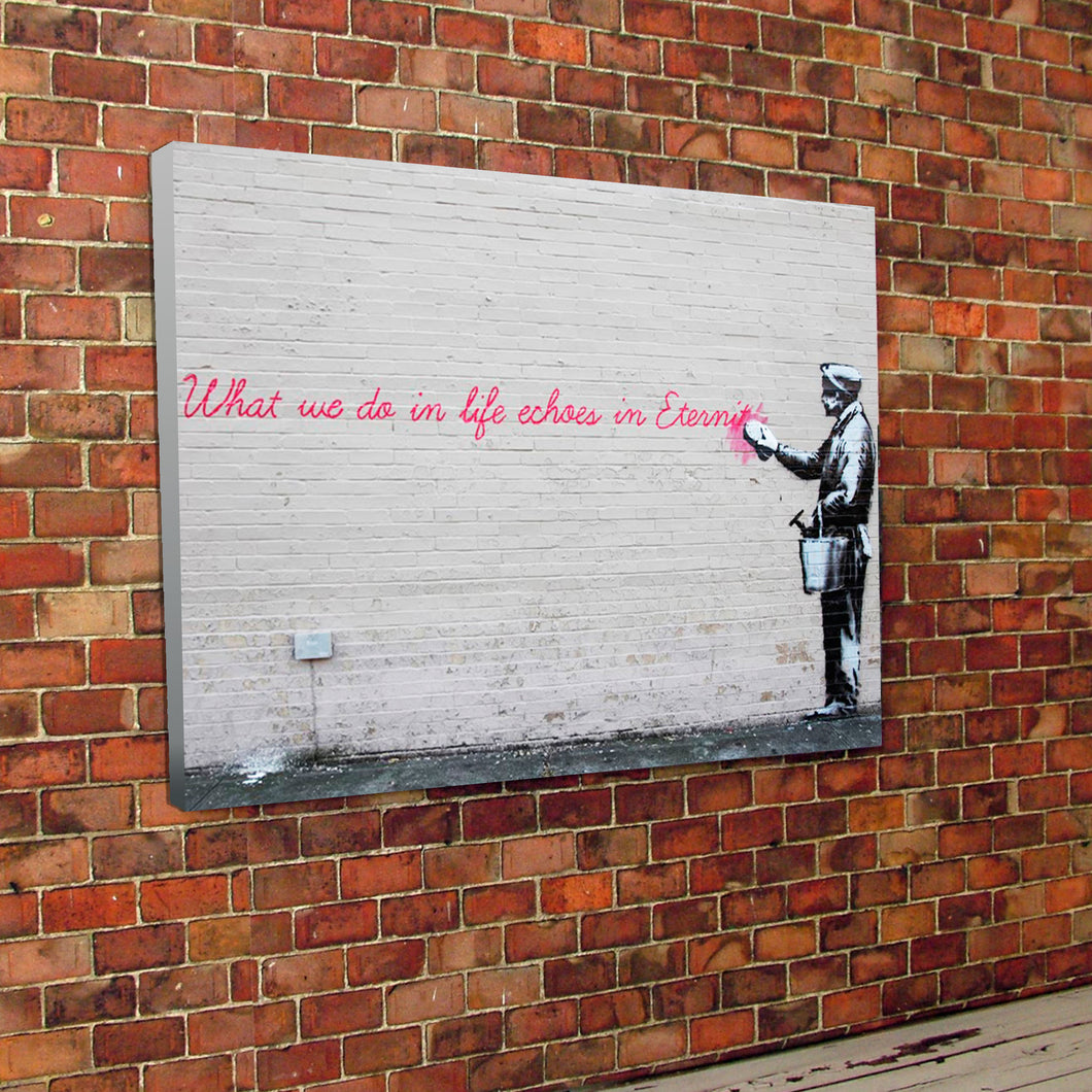 Banksy Eternity Graffiti Wall Canvas