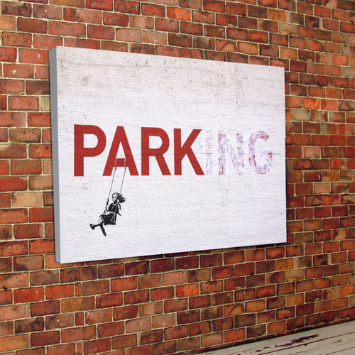 Banksy Parking Canvas