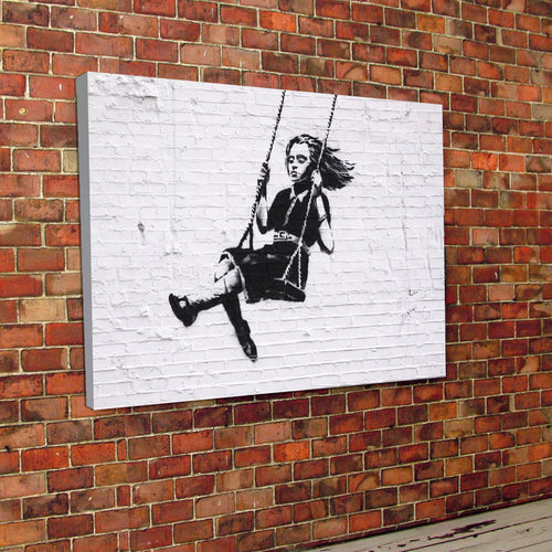 Banksy Swing Canvas