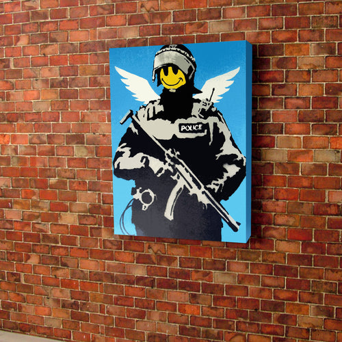 Banksy Swat Canvas
