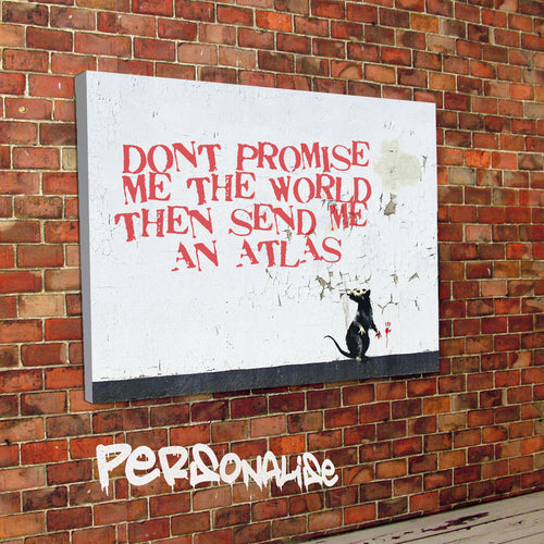 Personalised Rat Daubs Banksy Canvas