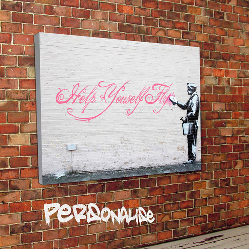 Personalised Graffiti Wall Banksy Canvas