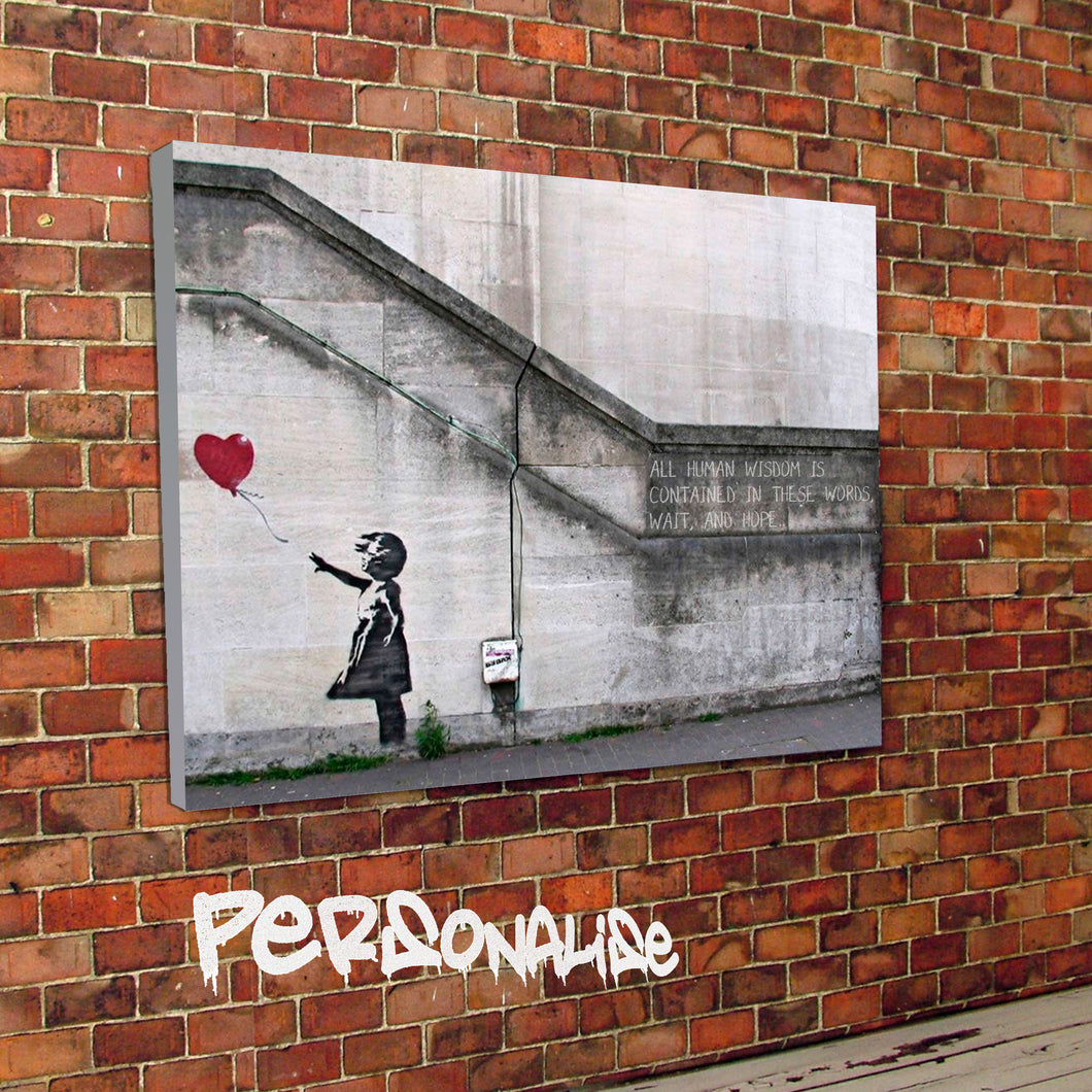 Personalised Hope Banksy Canvas