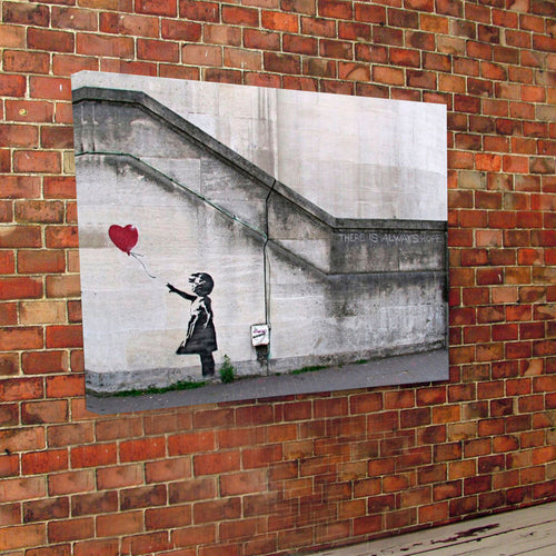 Banksy Print Canvas Hope Girl Balloon.