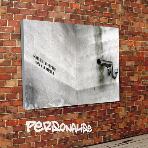 Personalised CCTV Banksy Canvas