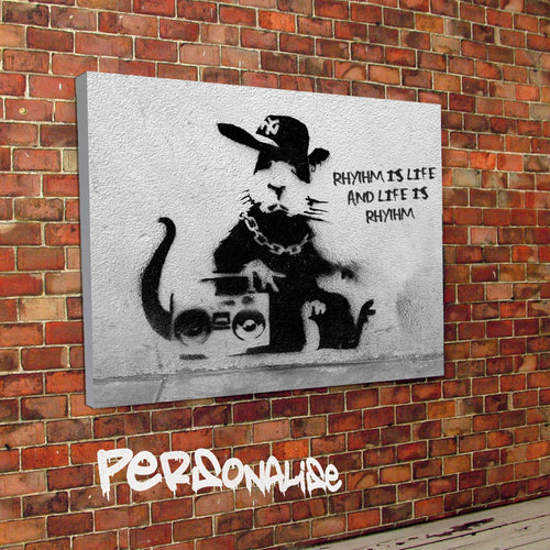 Personalised Rap Rat Banksy Canvas