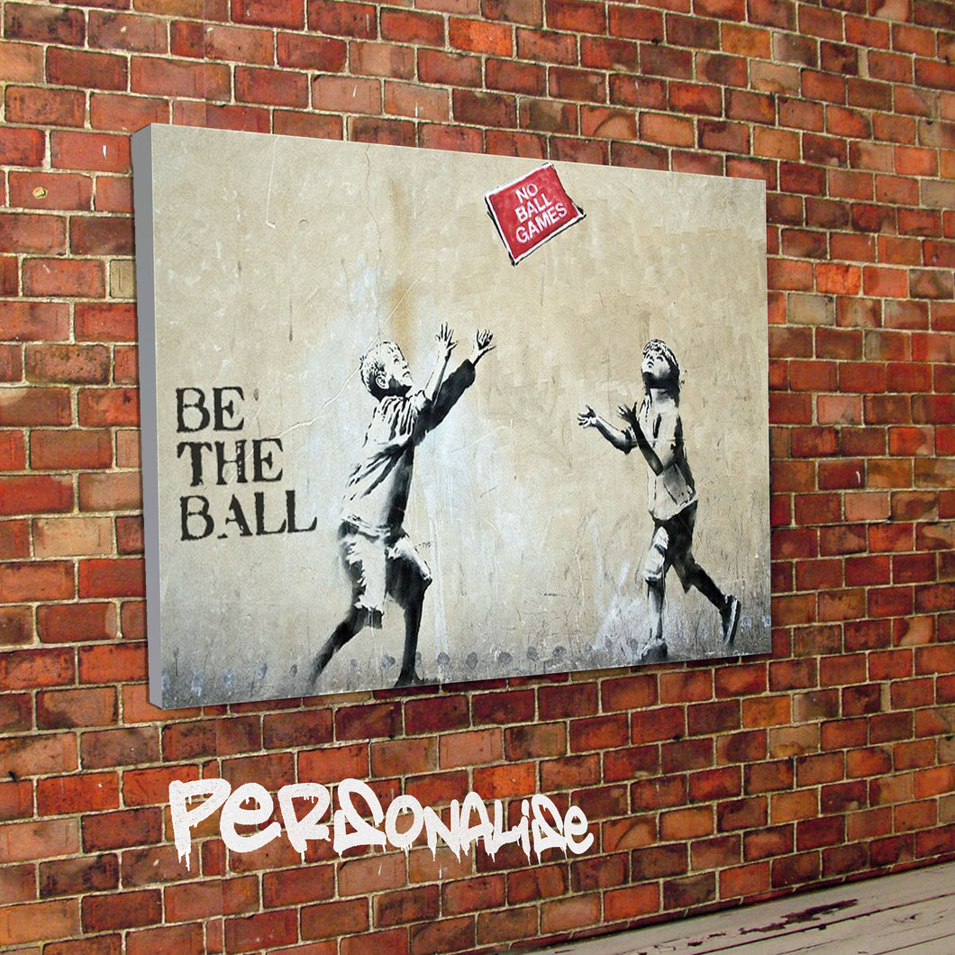 Personalised No Ball Games Banksy Canvas