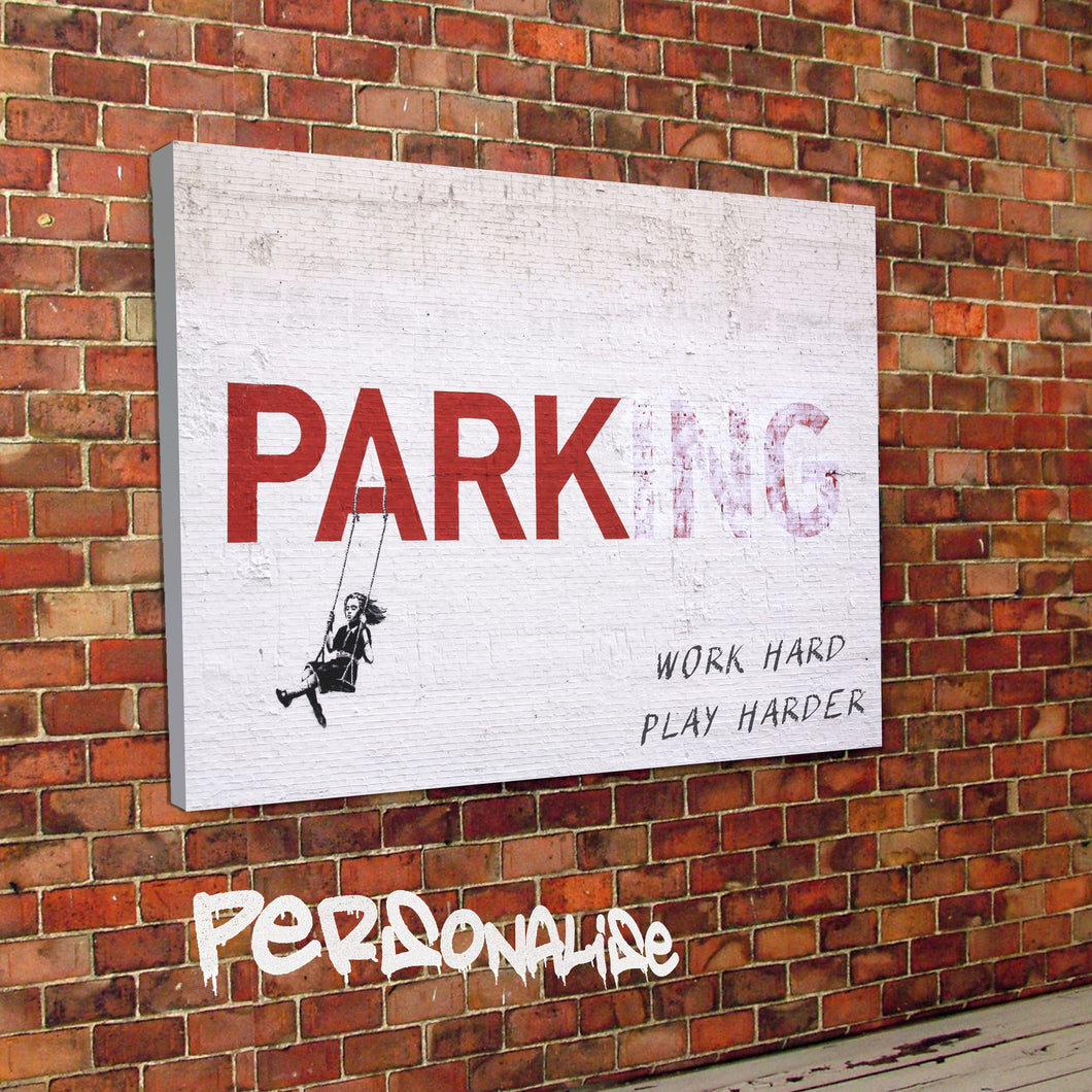 Personalised Parking Banksy Canvas