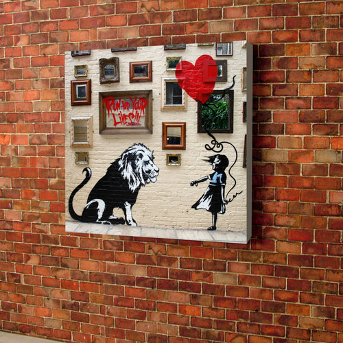 Banksy Lion Canvas