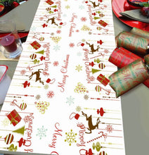 Christmas Icons Personalised Christmas Table Runner