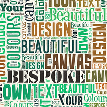 Text montage canvas Cognac and June