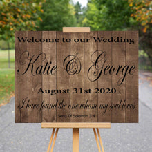 Wedding Welcome Sign Song of Solomon 3:4