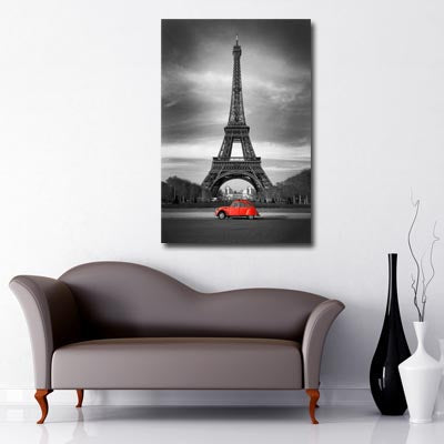 Eiffel Tower Red 2CV
