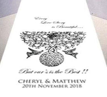 Every Love Story - Personalised Wedding Aisle Runner
