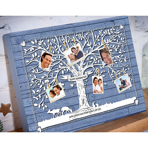 family Tree Father's Day canvas gift dad grandad photo upload personalised