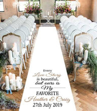 Load image into Gallery viewer, wedding aisle runner personalised love story