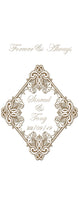 personalised wedding aisle runner ornate forever and always